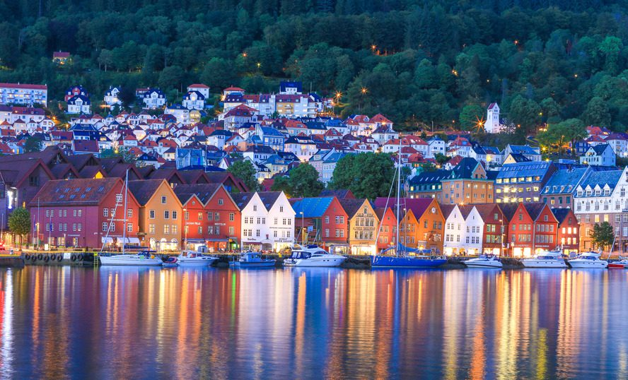 Explore the coloured wooden houses in magnificent Bergen.